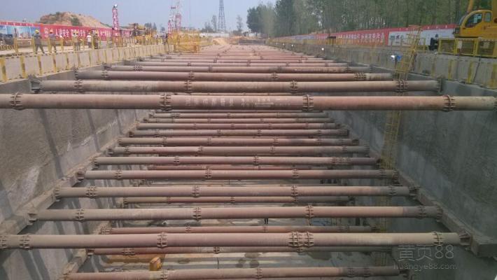 钢支撑施工案例 - 拉森钢板桩,杭州拉森基础工程有限